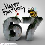 Happy Birthday 3D - 67. Geburtstag