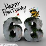 Happy Birthday 3D - 68. Geburtstag