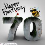 Happy Birthday 3D - 70. Geburtstag