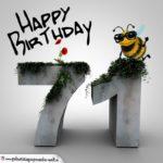 Happy Birthday 3D - 71. Geburtstag