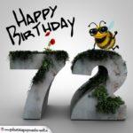 Happy Birthday 3D - 72. Geburtstag