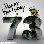 Happy Birthday 3D - 73. Geburtstag