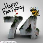 Happy Birthday 3D - 74. Geburtstag
