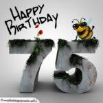 Happy Birthday 3D - 75. Geburtstag