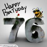 Happy Birthday 3D - 76. Geburtstag