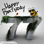Happy Birthday 3D - 77. Geburtstag