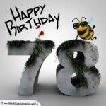 Happy Birthday 3D - 78. Geburtstag