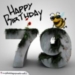 Happy Birthday 3D - 79. Geburtstag
