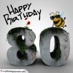 Happy Birthday 3D - 80. Geburtstag