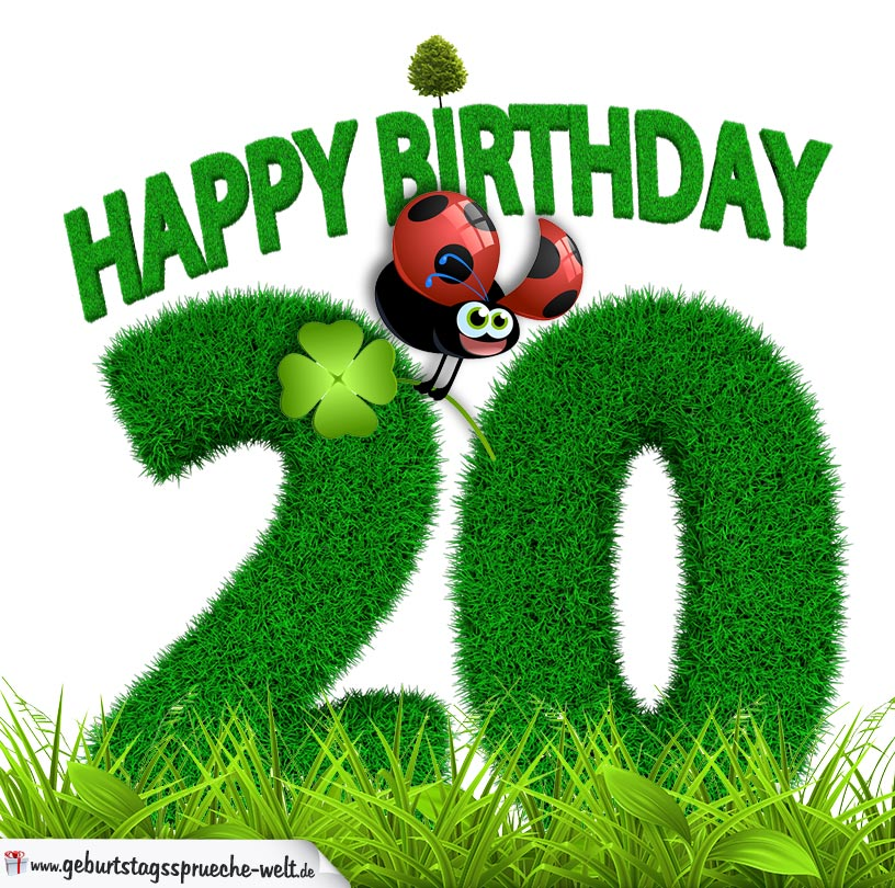20 geburtstag als graszahl happy birthday geburtstagsspr che welt. Black Bedroom Furniture Sets. Home Design Ideas