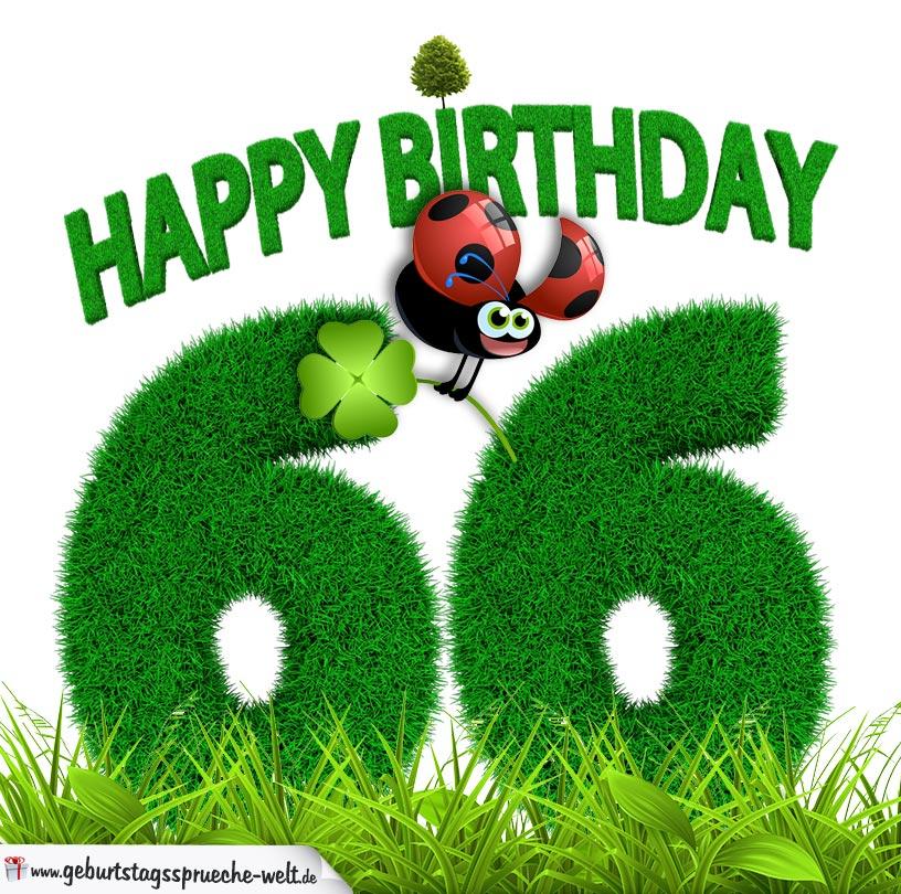 66 Geburtstag Als Graszahl Happy Birthday Geburtstagssprüche Welt