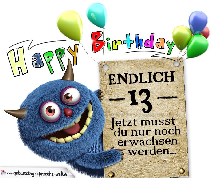 Zum 13 Geburtstag Spruche Hylen Maddawards Com