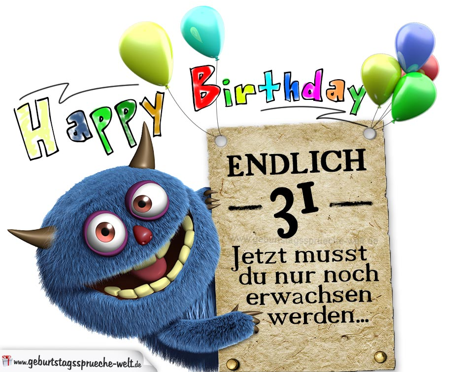 Glückwünsche Zum 31. Geburtstag