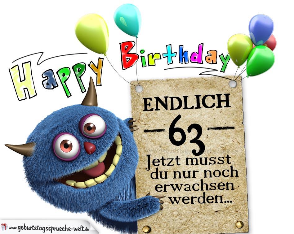 Glückwünsche Zum 63 Geburtstag Lustig Erwachsen