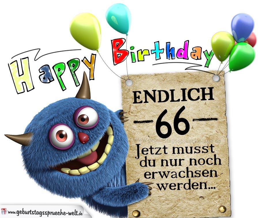 Glückwünsche zum 66. Geburtstag lustig erwachsen - Geburtstagssprüche-Welt