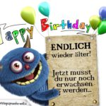 Glückwunschkarte zum Geburtstag für Menschen, die nie erwachsen werden