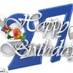 Happy Birthday 27