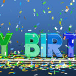 Happy Birthday Schriftzug in 3D