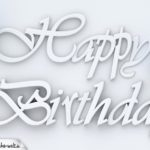 Happy Birthday Glückwunschkarte in 3D