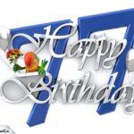 Happy Birthday 77