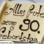 Kuchen zum 90. Geburtstag als kostenlose Karte