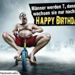 Lustige Geburtstagskarte für Männer - Dreirad
