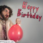 Crazy Glückwunschkarte Happy Birthday