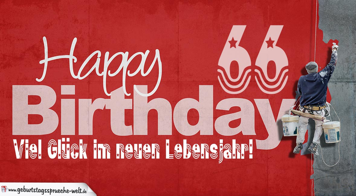 Geburtstagskarten Zum Ausdrucken 66 Geburtstag 66 Geburtstags