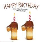 Happy Birthday in Keksschrift zum 11. Geburtstag