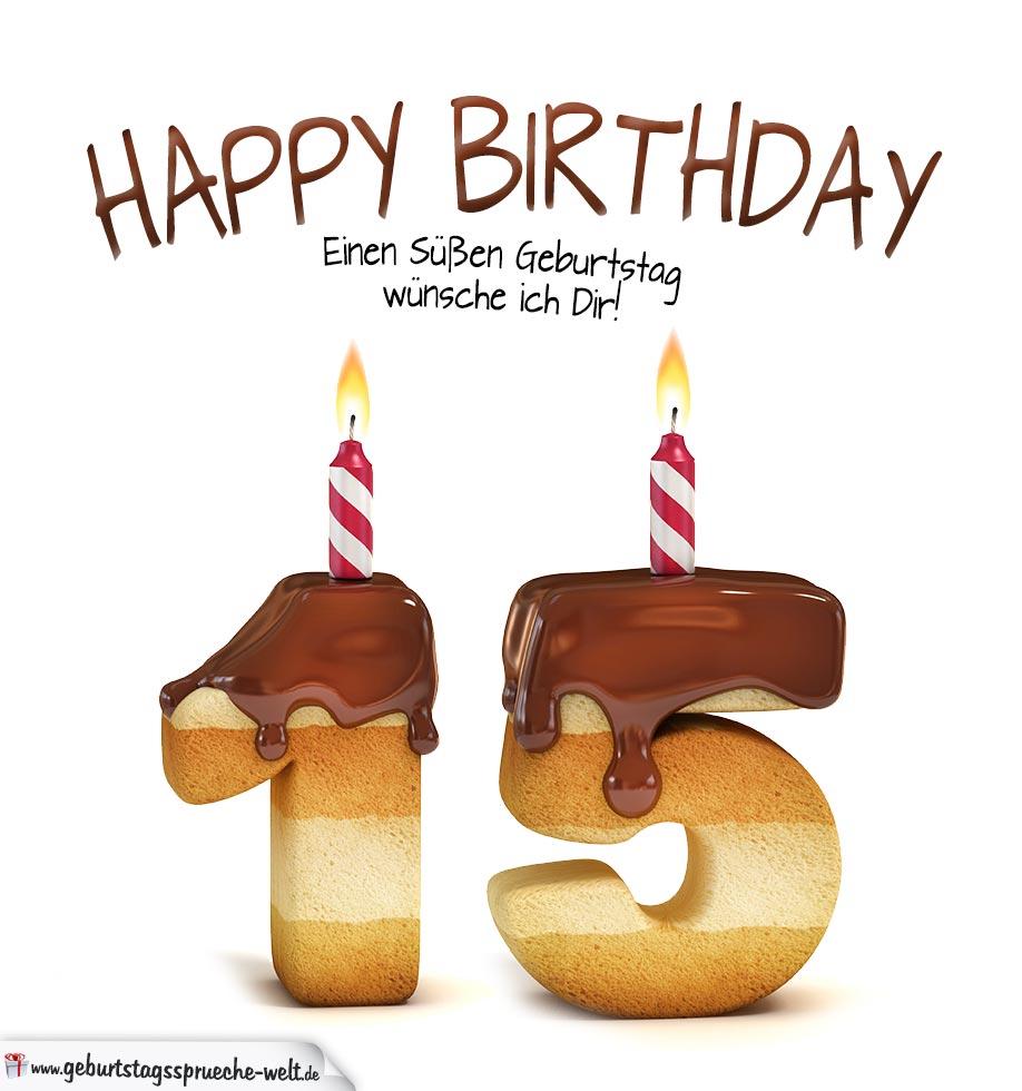 Geburtstagssprüche 15 Geburtstag