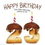 Happy Birthday in Keksschrift zum 23. Geburtstag
