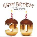Happy Birthday in Keksschrift zum 30. Geburtstag