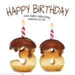 Happy Birthday in Keksschrift zum 38. Geburtstag