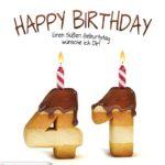Happy Birthday in Keksschrift zum 41. Geburtstag