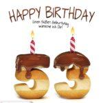 Happy Birthday in Keksschrift zum 53. Geburtstag