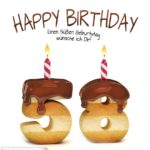 Happy Birthday in Keksschrift zum 58. Geburtstag