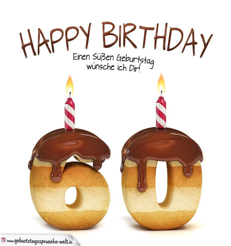 happy birthday in keksschrift zum 60. geburtstag