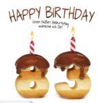 Happy Birthday in Keksschrift zum 83. Geburtstag