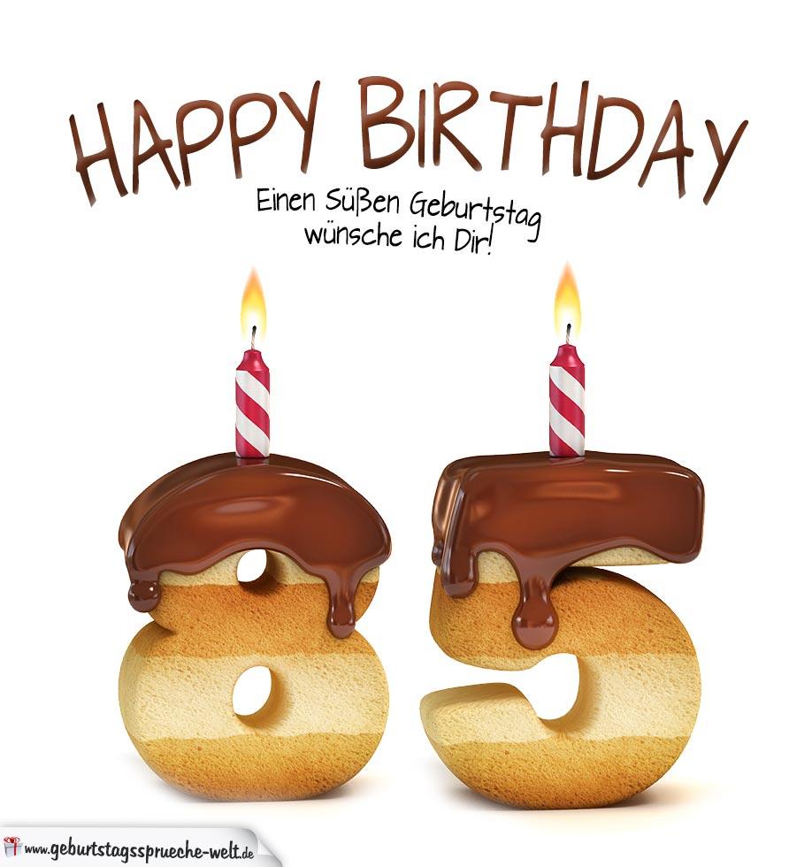 Happy birthday in keksschrift zum 85 geburtstag - Geschenke zum 85 geburtstag ...