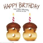Happy Birthday in Keksschrift zum 88. Geburtstag