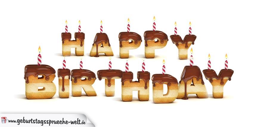 Happy Birthday in Keksschrift
