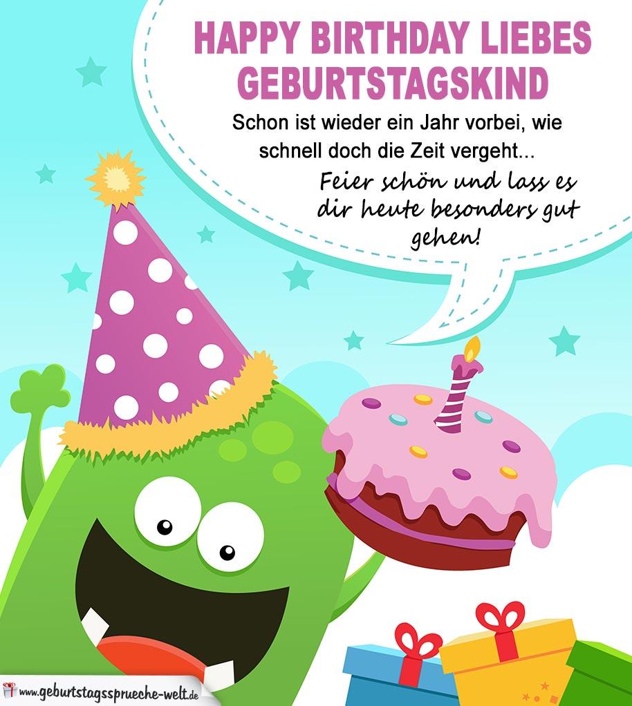 Happy Birthday liebes Geburtstagskind - Bunte Karte auch ...