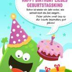 Geburtstagskarte für Kinder -Happy Birthday liebes Geburtstagskind