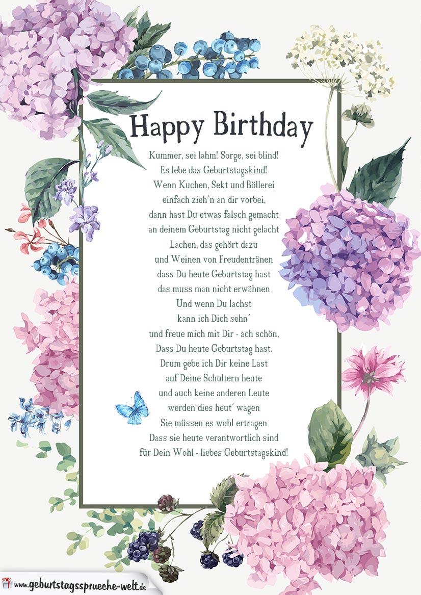 Gedicht Zum 17 Geburtstag