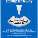Geburtstagskarte als Parkscheibe
