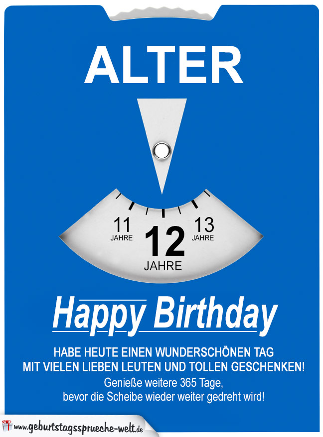 Glückwunsch Zum 12. Geburtstag