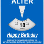Geburtstagskarte als Parkscheibe zum 18. Geburtstag