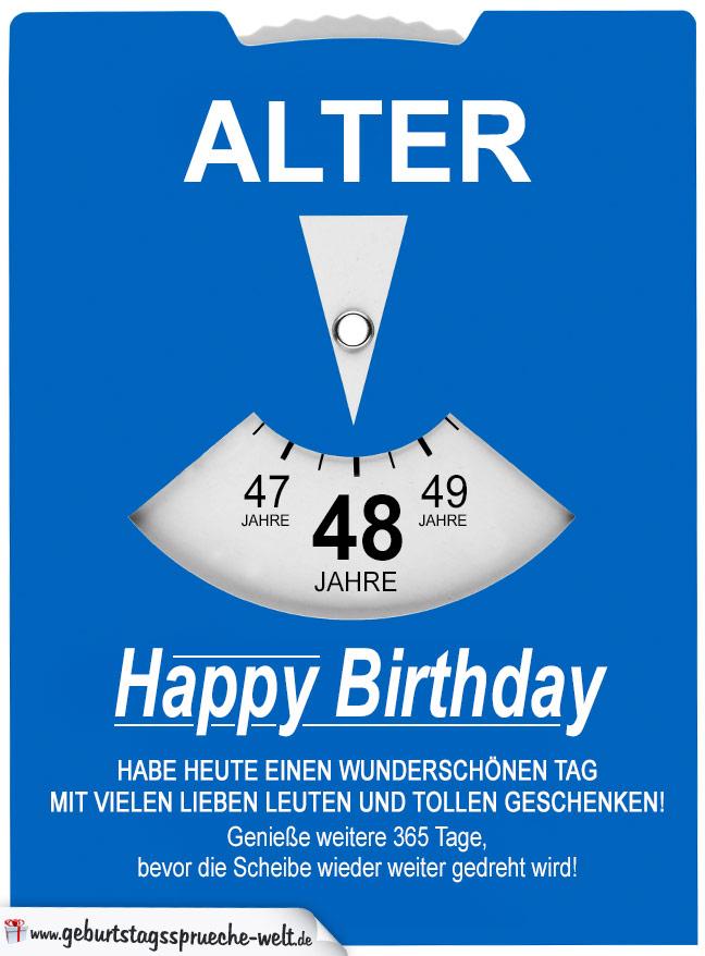 Geburtstag wunsche zum 48