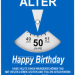 Geburtstagskarte als Parkscheibe zum 50. Geburtstag