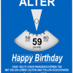 Geburtstagskarte als Parkscheibe zum 59. Geburtstag